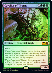 Cavalier of Thorns - Foil - Prerelease Promo