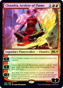 Chandra, Acolyte of Flame - Foil - Prerelease Promo