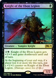 Knight of the Ebon Legion - Foil - Prerelease Promo
