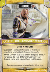 Artred, the Luminous Warrior on Channel Fireball