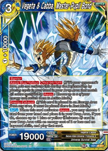 Vegeta & Cabba, Master-Pupil Bond - XD1-08 - ST