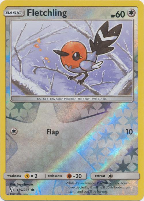 Fletchling - 179/236 - Common - Reverse Holo