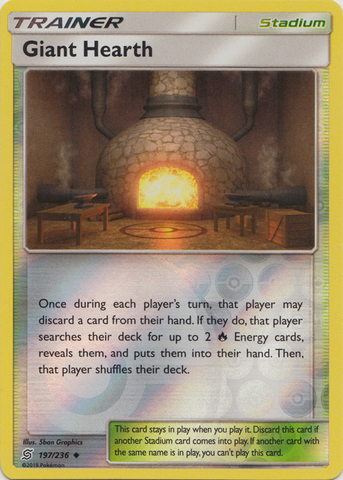 Giant Hearth - 197/236 - Uncommon - Reverse Holo