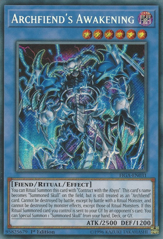 Archfiends Awakening - FIGA-EN031 - Secret Rare - 1st Edition