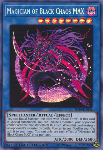 Magician of Black Chaos MAX - TN19-EN002 - Prismatic Secret Rare - Limited Edition