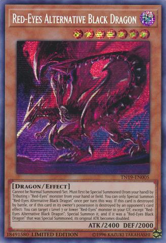 Red-Eyes Alternative Black Dragon - TN19-EN005 - Prismatic Secret Rare - Limited Edition