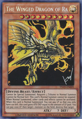 The Winged Dragon of Ra (alternate art) - TN19-EN009 - Prismatic Secret Rare - Limited Edition