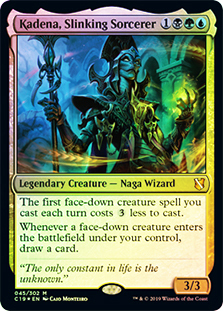 Oversized - Kadena, Slinking Sorcerer - Foil