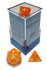 7-die Polyhedral Set - Festive Flare with White & Luminary Effect - CHX30007
