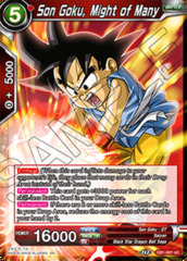 Son Goku, Might of Many - DB1-001 - UC - Foil
