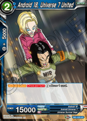 Android 18, Universe 7 United - DB1-029 - UC - Foil
