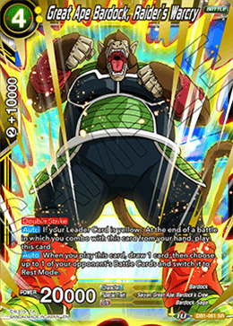 Great Ape Bardock, Raider's Warcry - DB1-061 - SR