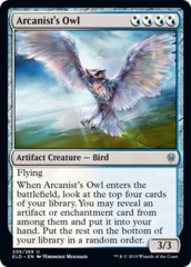 Arcanist's Owl - Foil on Channel Fireball