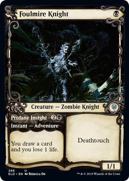 Foulmire Knight // Profane Insight - Foil - Showcase