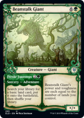 Beanstalk Giant // Fertile Footsteps - Foil - Showcase on Channel Fireball