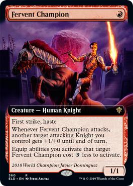 Fervent Champion - Foil - Extended Art