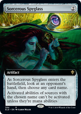 Sorcerous Spyglass - Foil - Extended Art