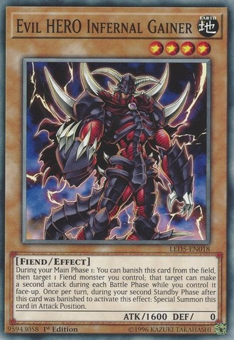 Evil HERO Infernal Gainer - LED5-EN018 - Common - 1st Edition