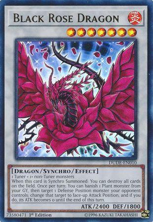 Black Rose Dragon - DUDE-EN010 - Ultra Rare - 1st Edition