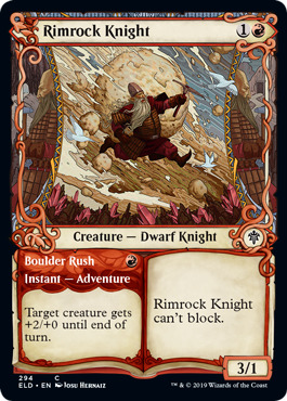 Rimrock Knight // Boulder Rush - Foil - Showcase