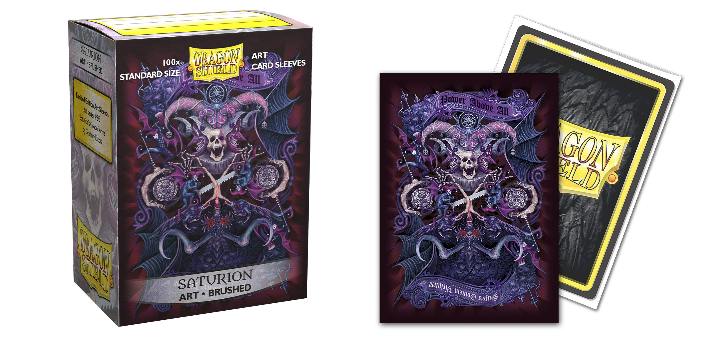 Dragon Shield Brushed Art Sleeves: Saturion Coat-of-Arms (100ct)