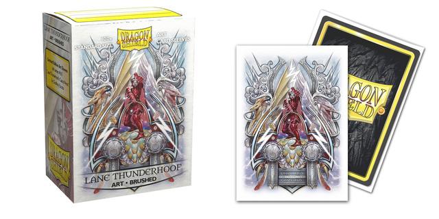 Dragon Shield Brushed Art Sleeves: Saturion Lane Thunderhoof Coat-of-Arms (100ct)