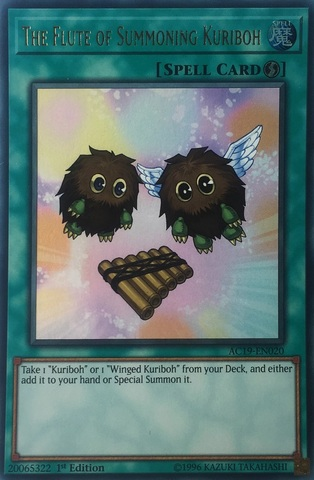 The Flute of Summoning Kuriboh - AC19-EN020 - Ultra Rare - 1st Edition