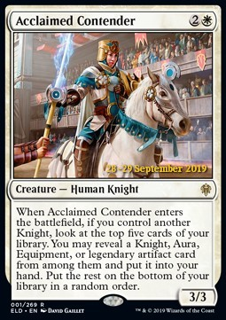 Acclaimed Contender (ELD Prerelease Foil)
