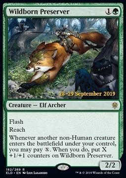 Wildborn Preserver - ELD Prerelease - Foil