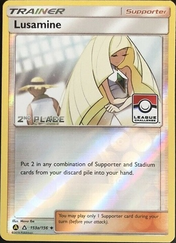 Lusamine - 153a/156 - League Challenge Alternate Art Promo - 2nd Place