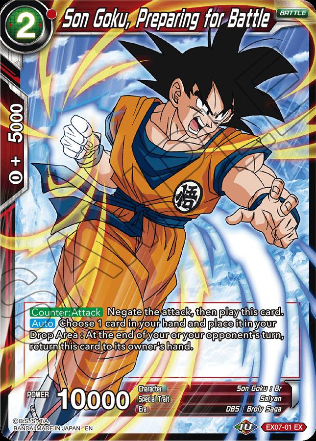 Son Goku, Preparing for Battle - EX07-01 - EX - Foil