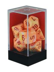 Festive Sunburst w/red Polyhedral 7-Die Set - CHX27453