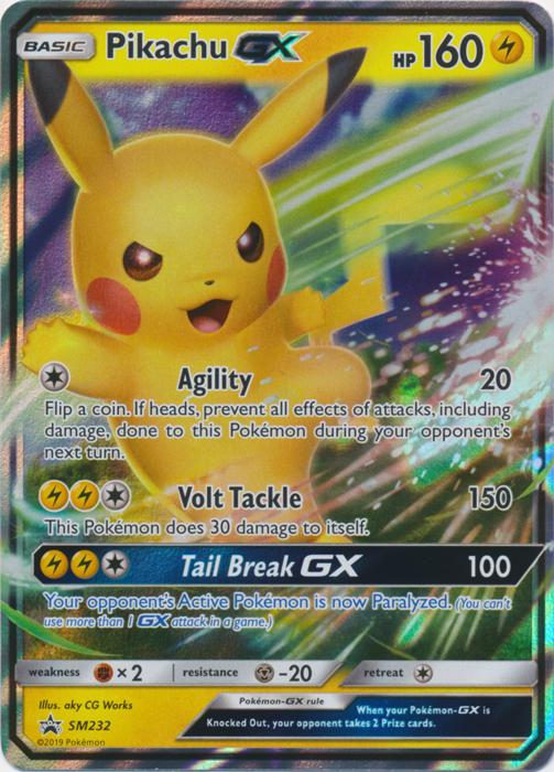 Pikachu GX - SM232 - SM Black Star Promos
