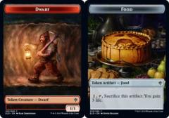 Dwarf Token // Food Token (015) - Foil