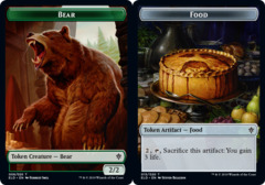 Bear Token // Food Token (015) - Foil