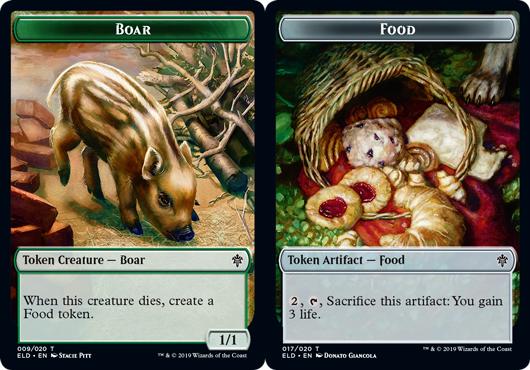 Boar Token // Food Token (017) - Foil