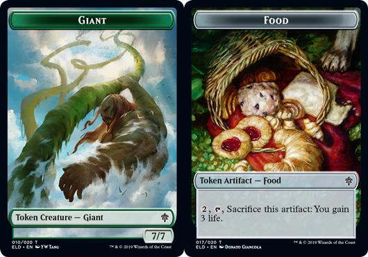 Giant Token // Food Token (017) - Foil