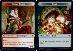 Human Rogue // Food (17) Double-sided Token - Foil