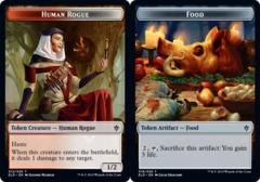 Human Rogue Token // Food Token (018) - Foil