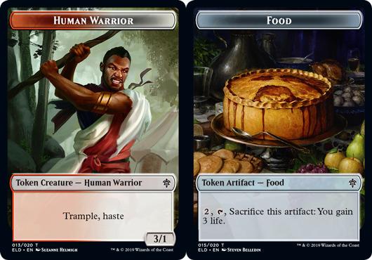 Human Warrior Token // Food Token (015) - Foil