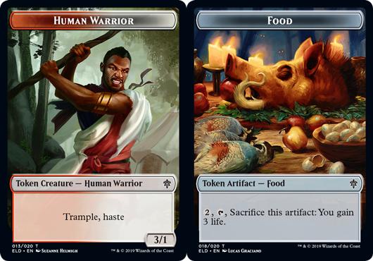 Human Warrior Token // Food Token (018) - Foil
