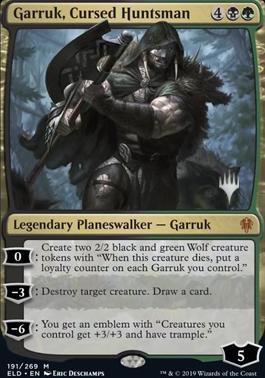 Garruk, Cursed Huntsman - Foil - Promo Pack