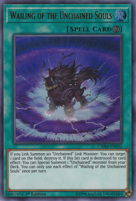 Wailing of the Unchained Souls - CHIM-EN055 - Ultra Rare - 1st Edition