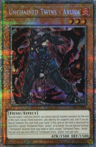 Unchained Twins - Aruha - CHIM-EN008 - Prismatic Rare - 1st Edition