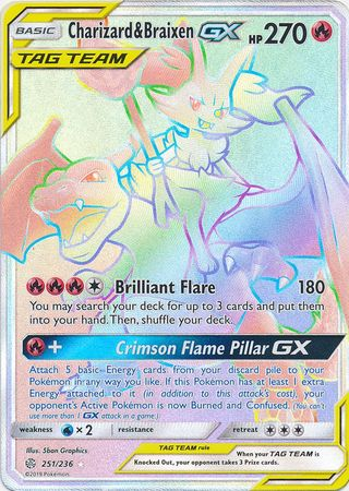 Charizard & Braixen Tag Team GX - 251/236 - Secret Rare