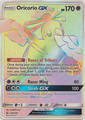 Oricorio GX - 255/236 - Secret Rare