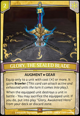 Glory, the Sealed Blade