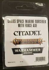 Chaos Space Marines Sorcerer With Force Axe
