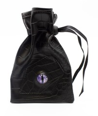 Old School Dice: Dragon Eye Dice Bag - Black Dragon