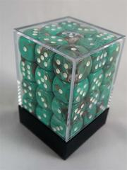 Marble Oxi-Copper with White 12mm d6 Dice Block - CHX27803